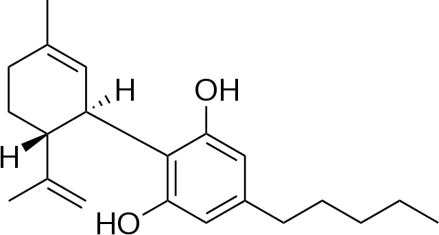 cannabidiol molecule image