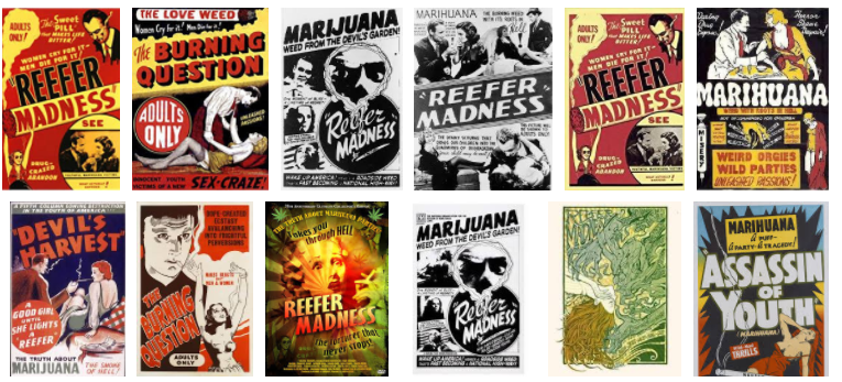 Reefer Madness print campaign graphic.